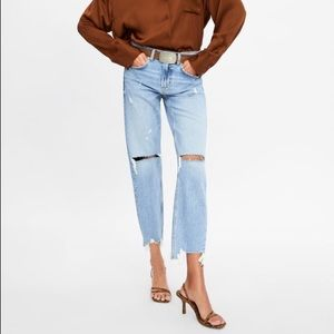 Zara The Slim Boyfriend Jeans in Beach Blue